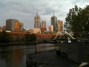 Melbourne Skyline (Flinders Station behind Yarra River)